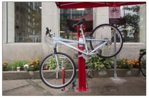 Example of DIY bike stand