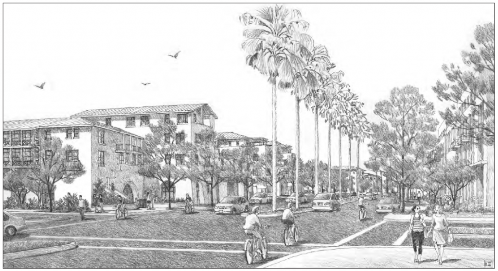 View of planned Redlands Blvd area downtown
